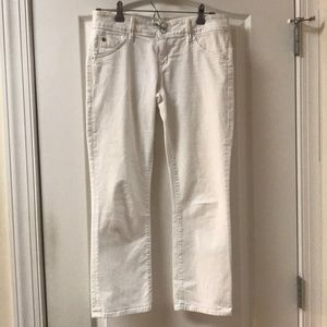 Hudson white cropped ankle jeans size 28
